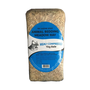 Small Animal Bedding Meadow Hay Brick 1kg
