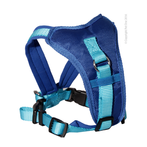 Harness Comfy 64 To 78cm Padded 25mm Blue Blue