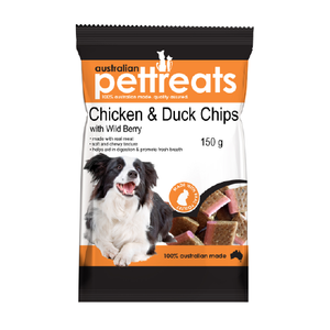 Chicken & Duck Chips with Wild Berry 150g