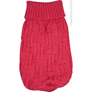 Dog Coat Komfyknit Jumper Icelandic 30cm Red