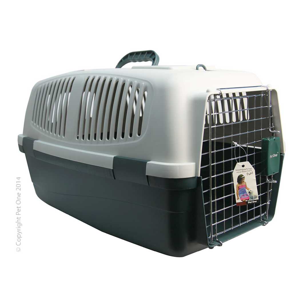 Plastic Pet Carrier Large 62L x 39W x 39cm H