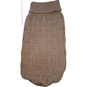 Dog Coat Komfyknit Jumper Icelandic 25cm Latte