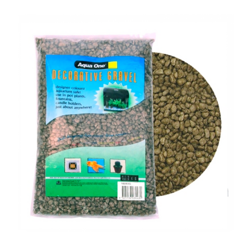 Decorative Gravel 2kg Moss Green 7mm