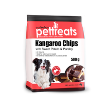 Load image into Gallery viewer, Kangaroo Chips with Sweet Potato & Parsley 500g