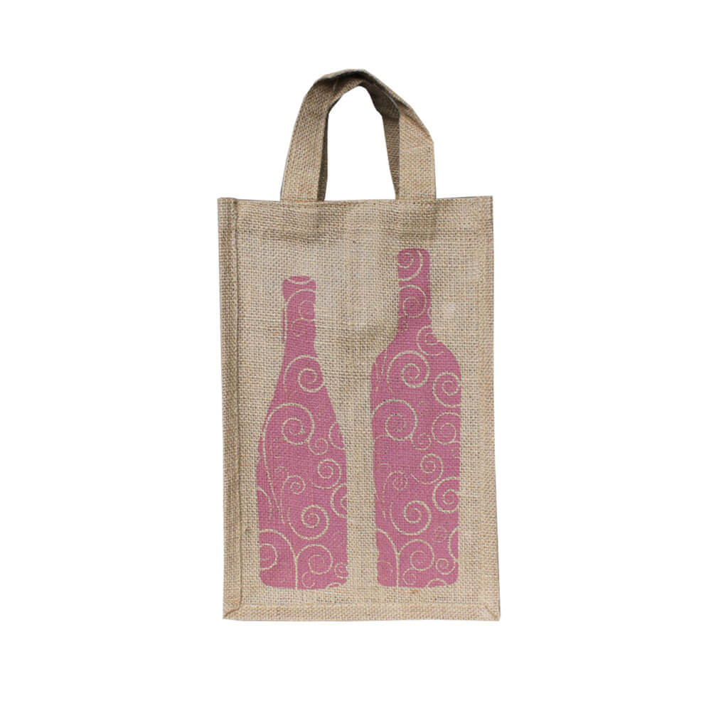 2 Bottle Printed Bag