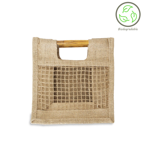 Natural 20cm Mesh Gift Bag