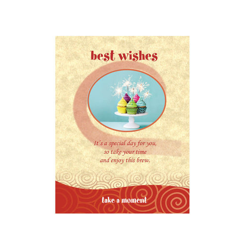 Best Wishes Tea-Card