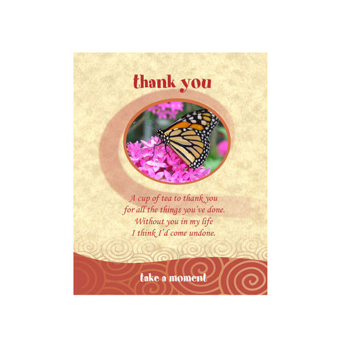 Butterfly Tea-Card (Thank You)