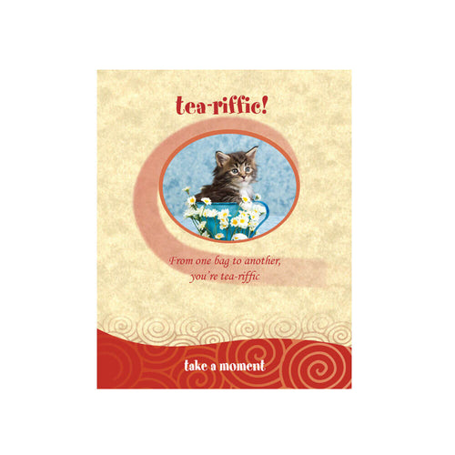 Cat Tea-Card (Tea-riffic)