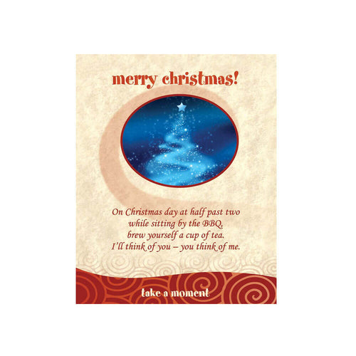 Christmas Blue Star Tea-Card
