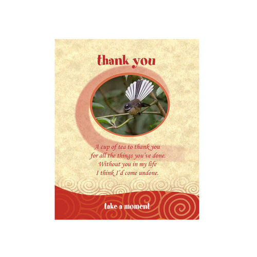 Fantail Tea-Card (Thank You)