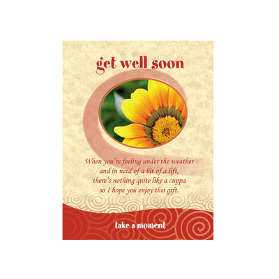 Get Well Soon Tea-Card