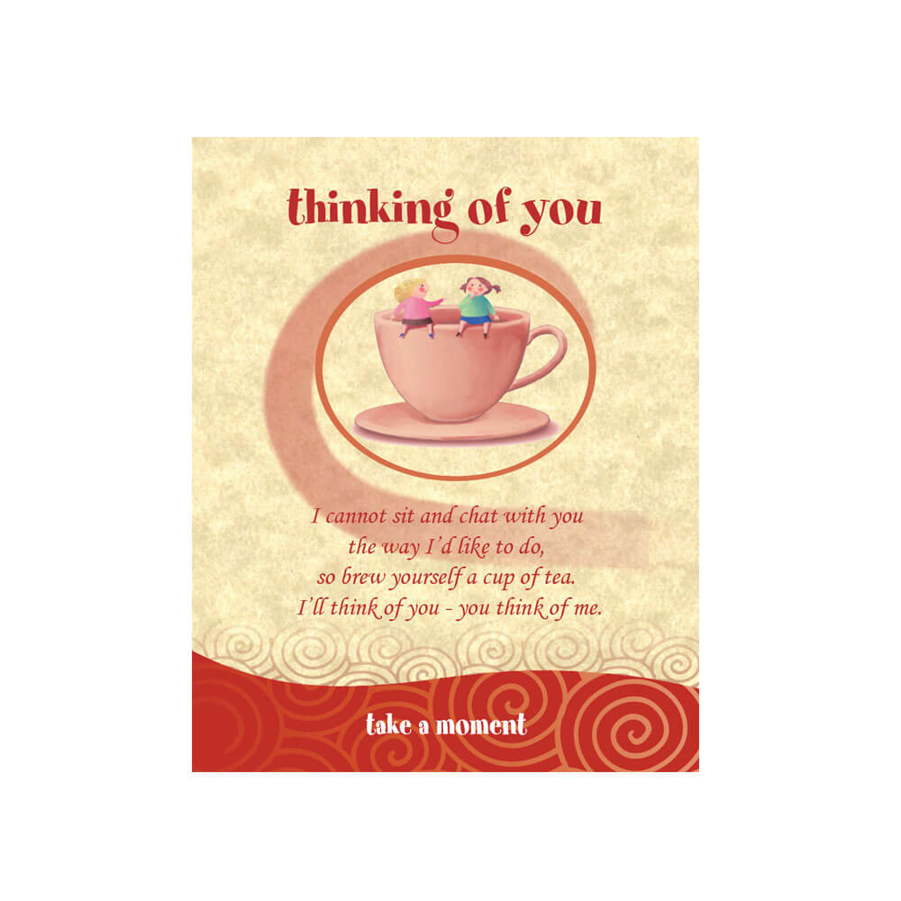 Girls On Mug Tea-Card (Thinking Of You)