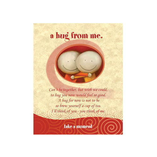 Hugs Tea-Card (A Hug From Me)