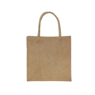 Natural Jute, 34x34x20cm, PP lining, 50cm padded handles