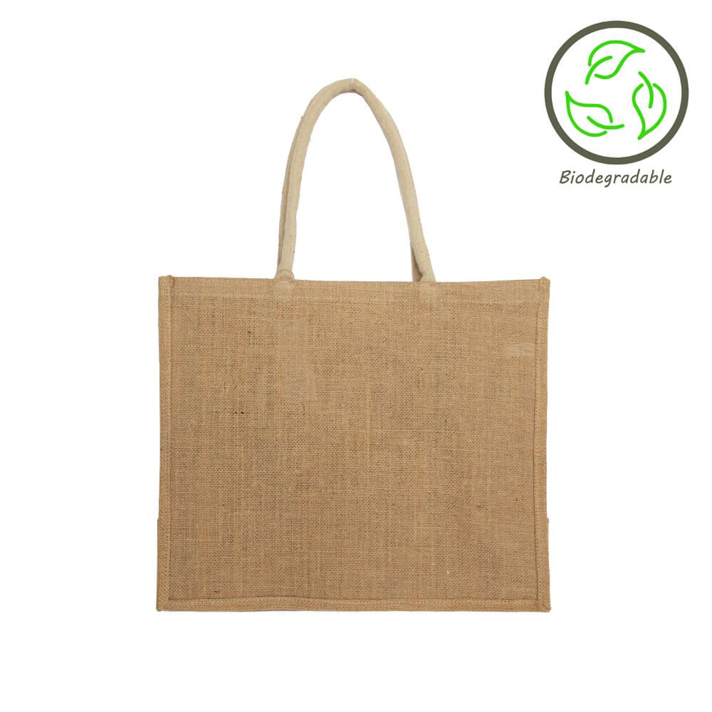 JNU4034 Unlined Stiffened Jute Bag
