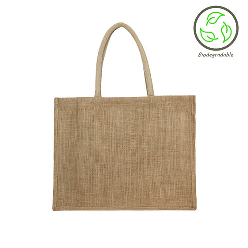 JNU4334 Unlined Foldable Jute Bag