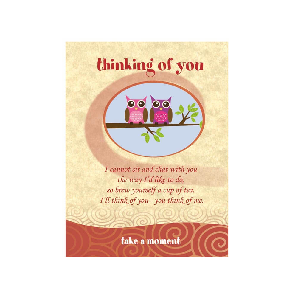 Owls Tea-Card (Thinking Of You)