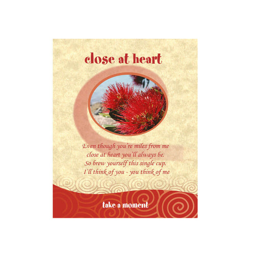 Pohutukawa Tea-Card (Close At Heart)