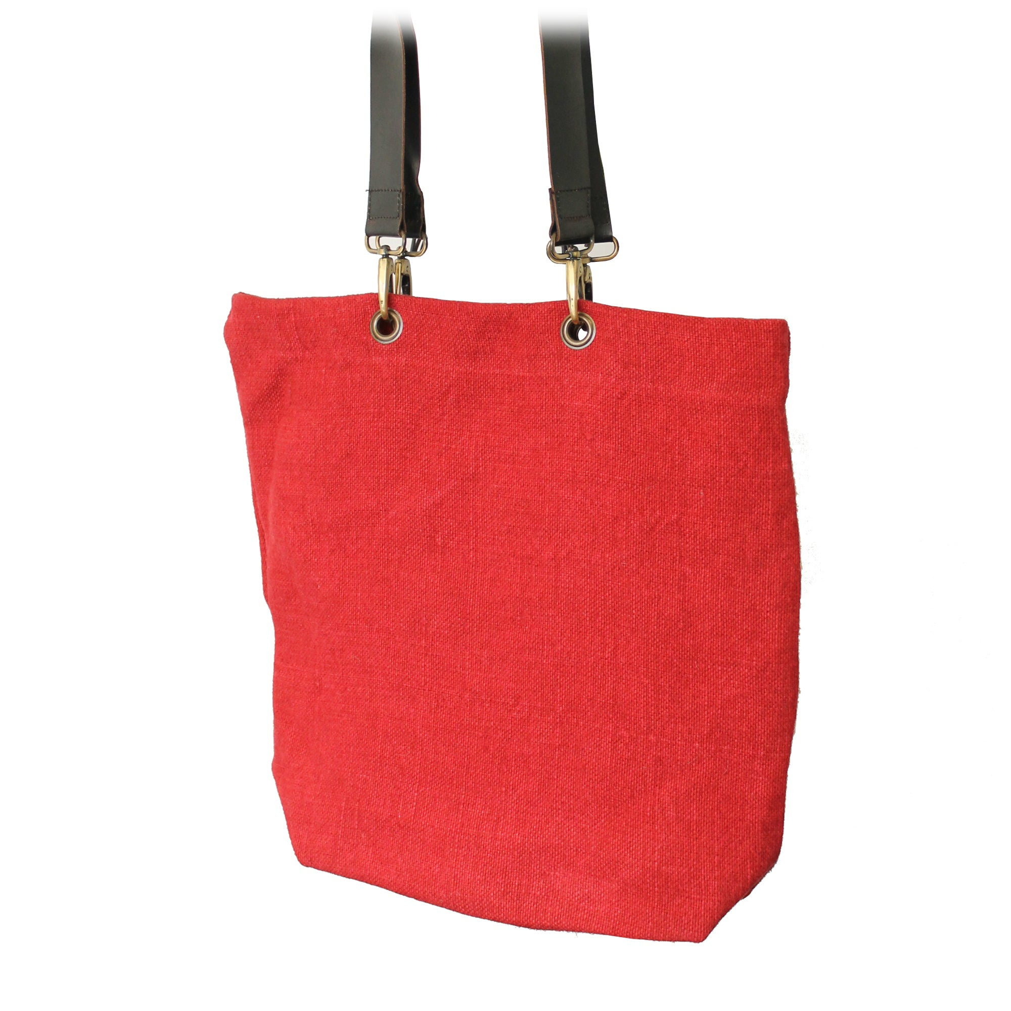 'Ruby' Soft Jute Bag - Red