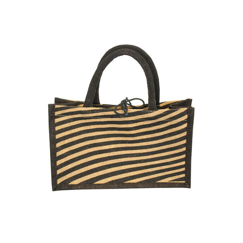 Jute Gift Bag - Stripe