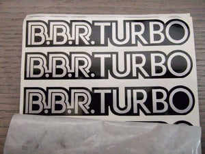 BBR Turbo Stickers - Pack of 3