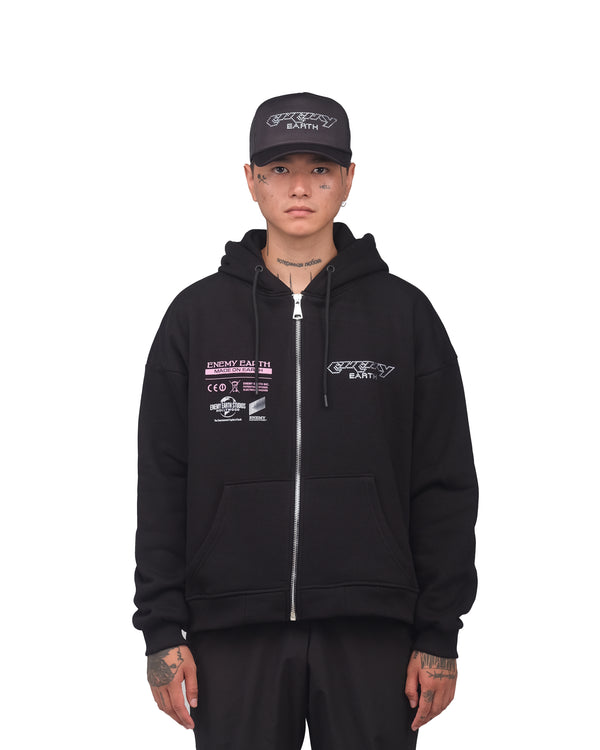 Impact Zip up Hoodie - black