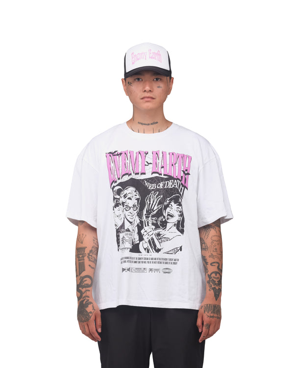 Web of Death T-Shirt - white