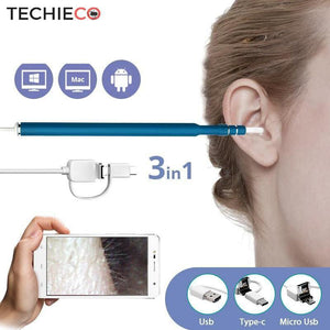 USB HD Endoscope Ear Wax Remover - Techieco