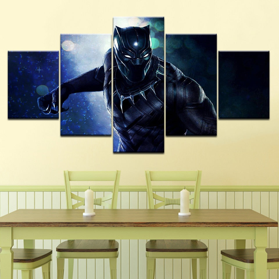 Black panther wall art canvas
