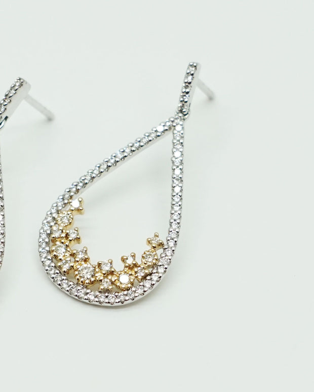 Two-Tone Diamond Earrings