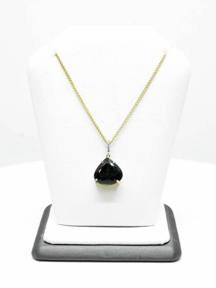 Green Tourmaline Necklace - 7.65 ct