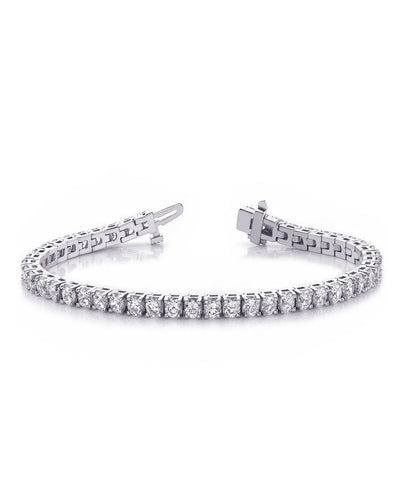 4-Prong Diamond Tennis Bracelet