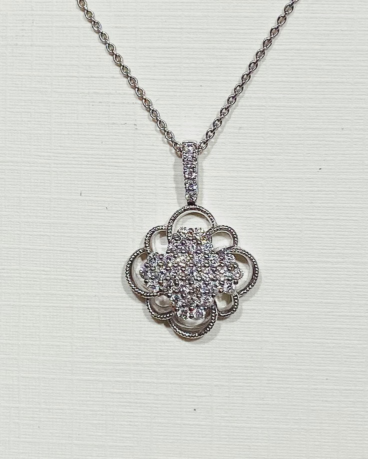 Floral Cluster Pendant Necklace