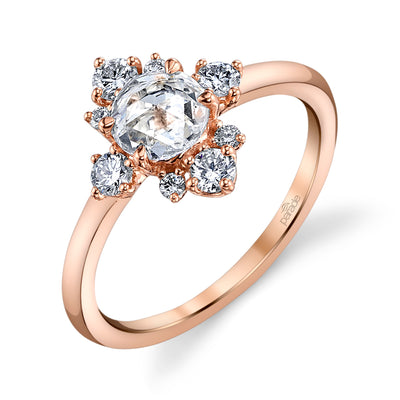 Lumiere Bridal Rose Cut Ring