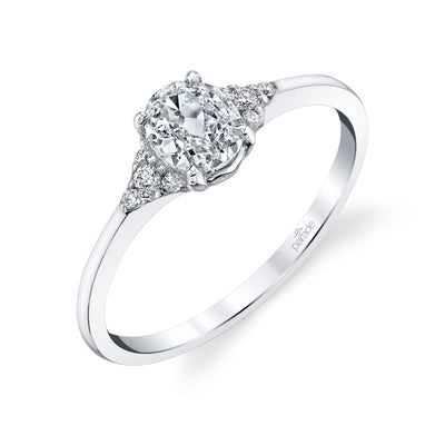Lumiere Bridal Oval Brilliant Diamond Ring