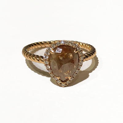 Kattan Rope Rose Gold Ring