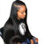 360 Lace Front Wigs Straight 100% Human Virgin Hair