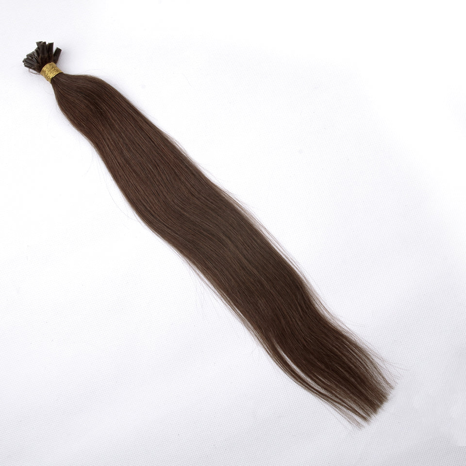 Straight Chocolate Brown Pre-Bonded Extension