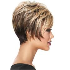 Short Side Bang Layered Straight Colormix Synthetic Wig