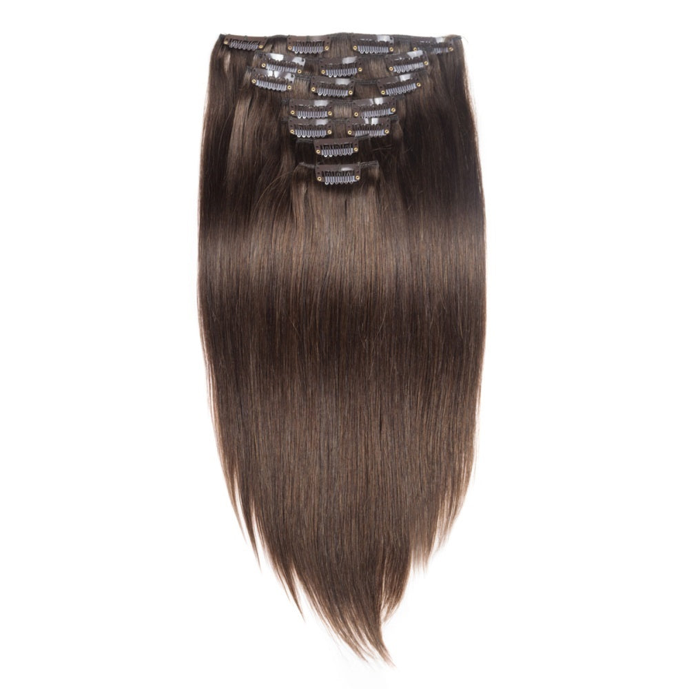 Straight Chocolate Brown Clip In
