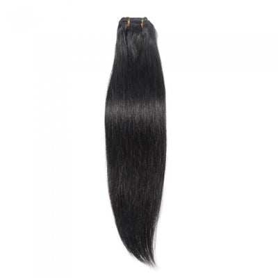 Straight Natural Black Clip In