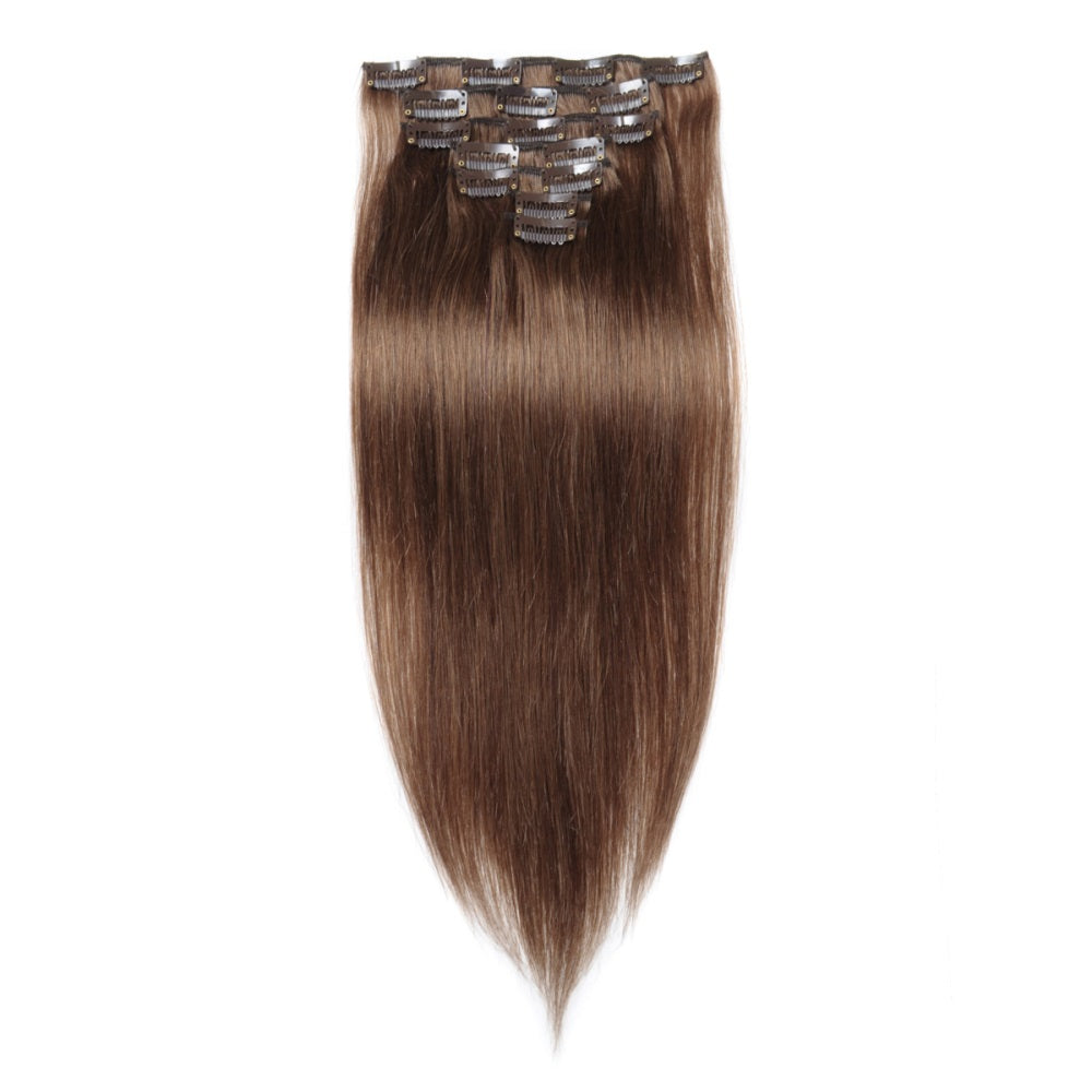 Straight Light Brown Clip In