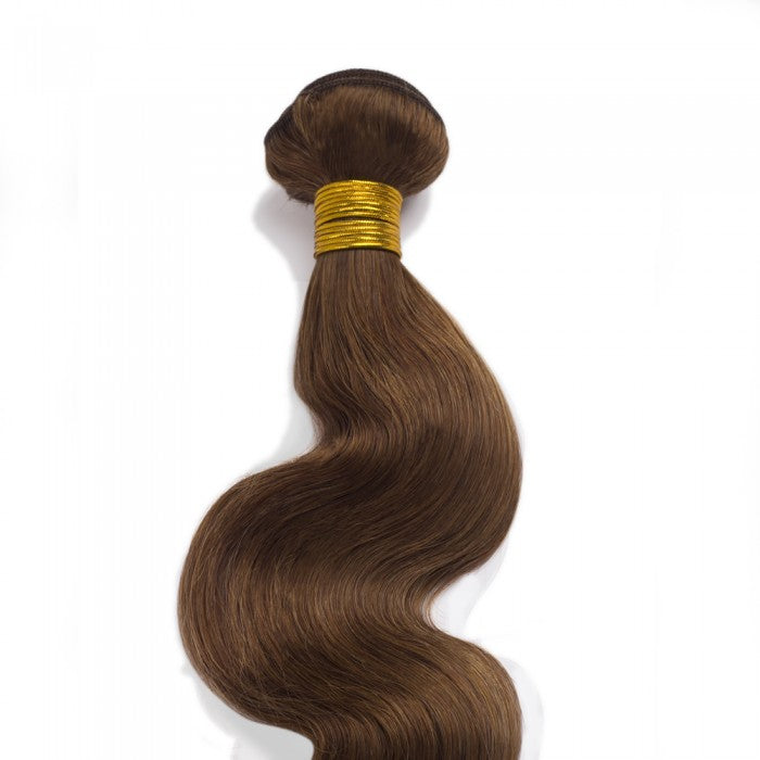Body Wavy Light Brown Remy Colored Weave