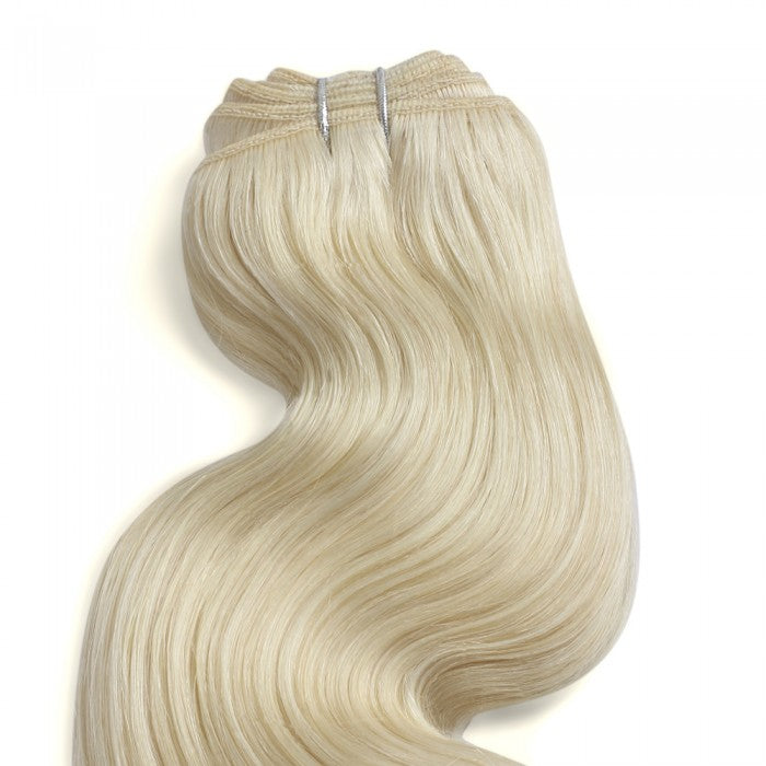Body Wavy Lightest Blonde Remy Colored Weave