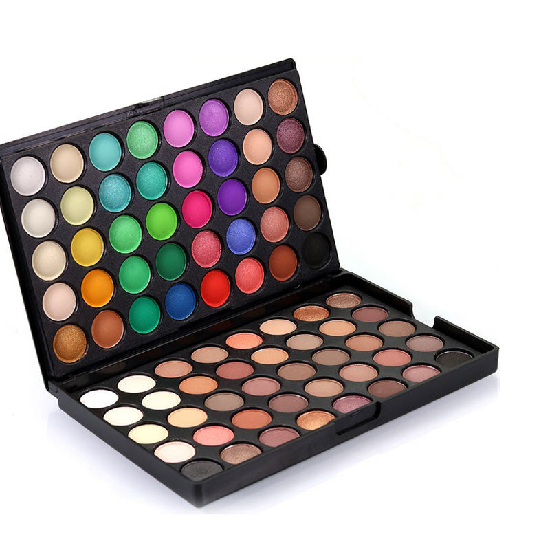 80 Colors Shimmer Matte Eye Shadow Makeup Palette Fashion Natural Make Up Cosmetics Suit Light