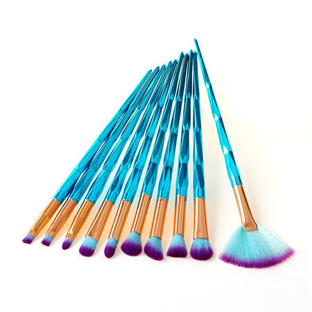 4/7/10Pcs Diamond Makeup Brushes Set Foundation Blending Powder Eyeshadow