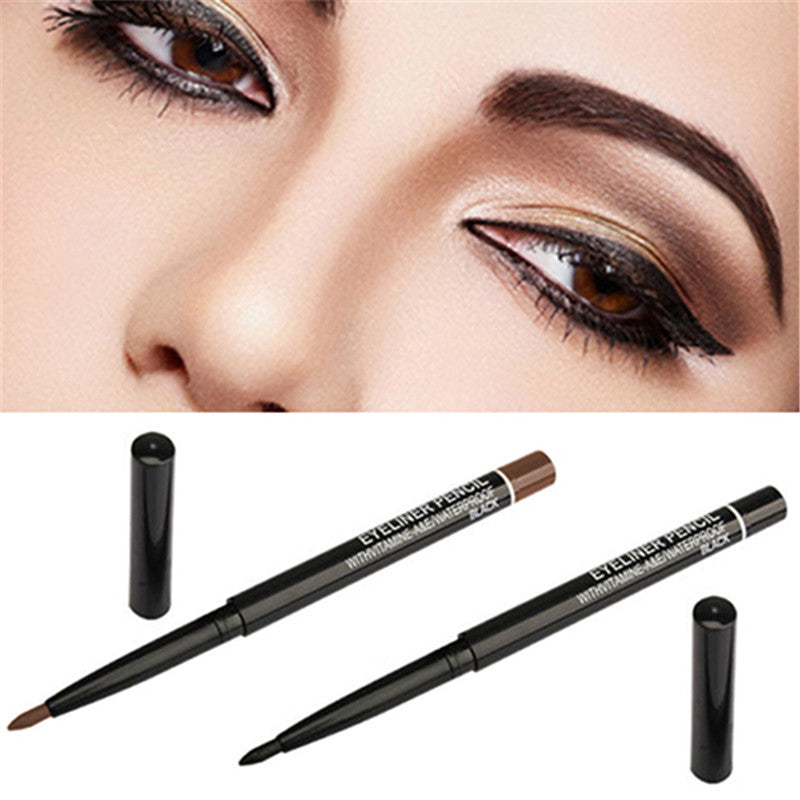 Waterproof Rotary Gel Cream Eye Liner Black Brown Eyeliner Pen Makeup Cosmetic Tool