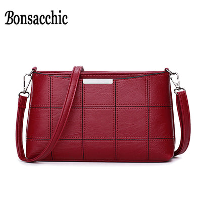 Bonsacchic Leather Bags Women Shoulder