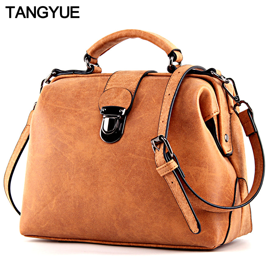 TANGYUE Shoulder Luxury Matte Leather Messenger Bag